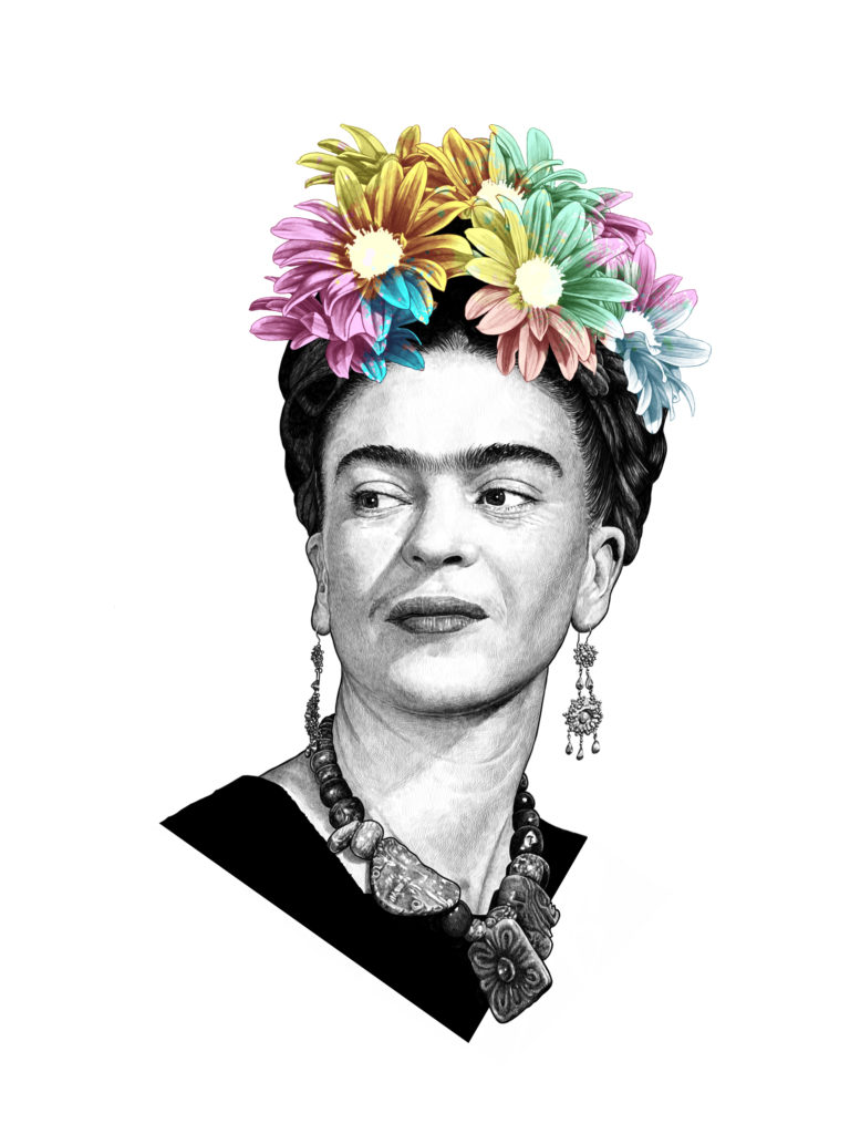 Retrato Digital Frida Kahlo by MaldeCap