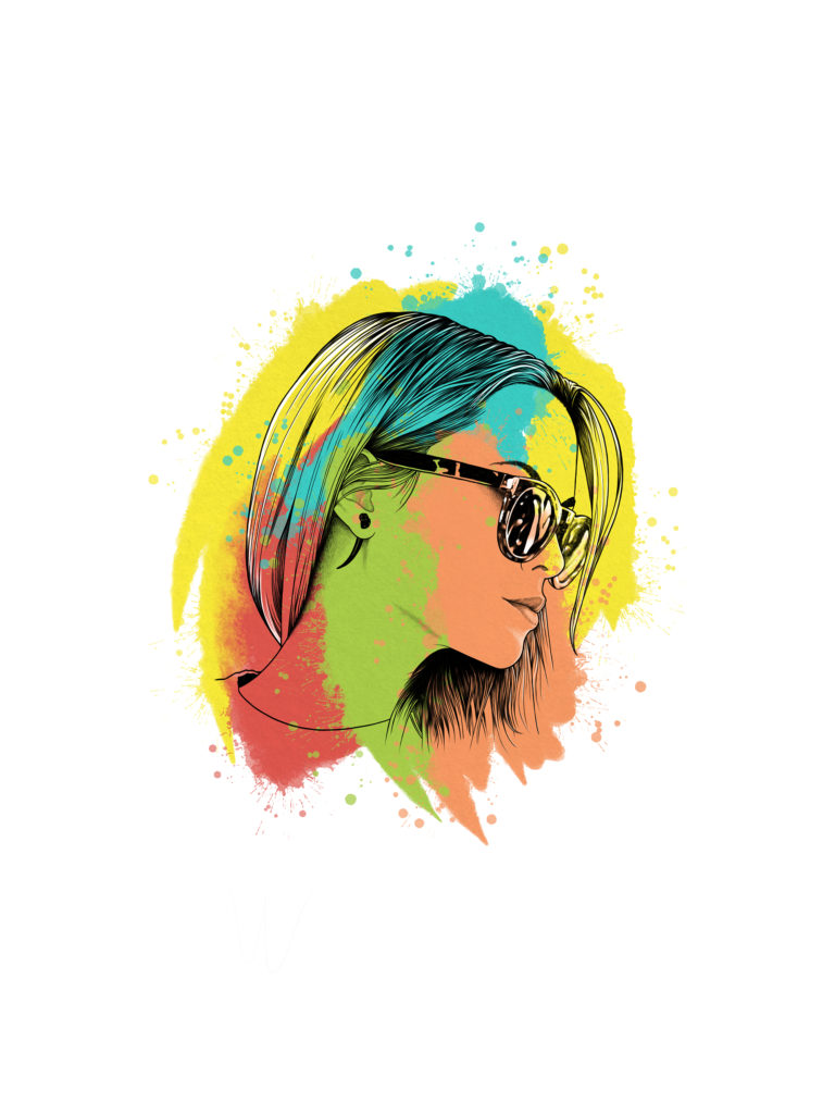 Ilustración Digital Sunglasses by MaldeCap