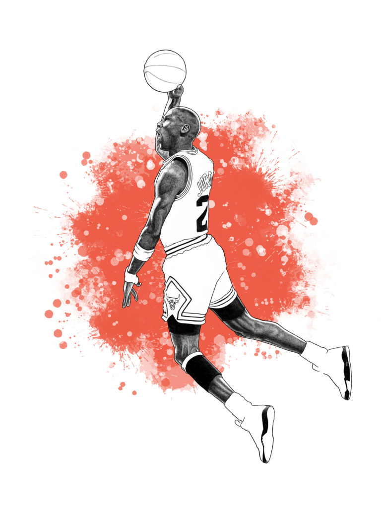 Ilustración Digital Michael Jordan by MaldeCap